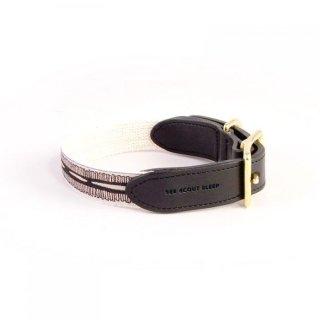 Braveheart Leather Collar, Cream & Black (ブレイブハート・レザーカラー, クリーム & ブラック)