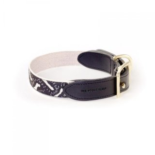 <img class='new_mark_img1' src='https://img.shop-pro.jp/img/new/icons35.gif' style='border:none;display:inline;margin:0px;padding:0px;width:auto;' />Life Of The Party Leather Collar, Black & Cream (ライフ・オブ・ザ・パーティ・レザーカラー , ブラック & クリーム)