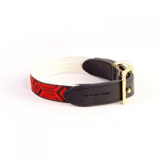 <img class='new_mark_img1' src='https://img.shop-pro.jp/img/new/icons35.gif' style='border:none;display:inline;margin:0px;padding:0px;width:auto;' />Out Of My Box Leather Collar, Black & Vermillion (アウト・オブ・マイ・ボックス・レザーカラー, ブラック & バーミリオン)