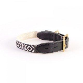 Out Of My Box Leather Collar, Cream & Black (アウト・オブ・マイ・ボックス・レザーカラー, クリーム & ブラック)