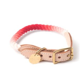 Coral Ombre Rope Cat & Dog Collar (コーラル・オンブレ・ロープ・キャット & ドッグ・カラー)