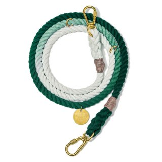 <img class='new_mark_img1' src='//img.shop-pro.jp/img/new/icons39.gif' style='border:none;display:inline;margin:0px;padding:0px;width:auto;' />Teal Ombre Rope Dog Leash, Adjustable (ティール・オンブレ・ロープ・ドッグ・リーシュ, アジャスタブル)