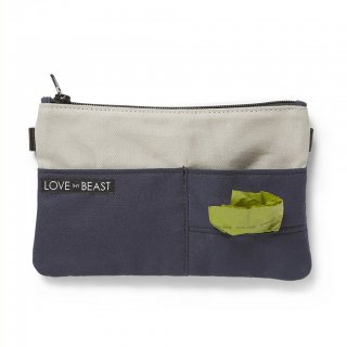 Canvas Pouch Navy - Cross body + Pet Tote Attachment (キャンバス・ポーチ ,ネイビー)