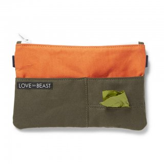 Canvas Pouch Olive - Cross body + Pet Tote Attachment (キャンバス・ポーチ ,オリーブ)