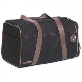 Canvas Duffle Carrier Black & Chocolate Brown (�����Х������åե롦����ꥢ�� ,�֥�å�&���祳�졼�ȥ֥饦��)