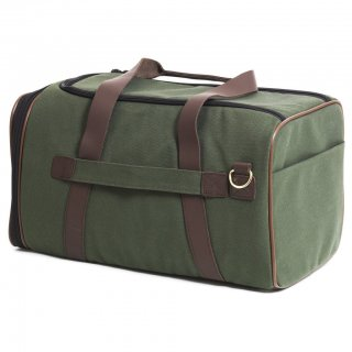 Canvas Duffle Carrier Olive & Chocolate Brown (キャンバス・ダッフル・キャリアー ,オリーブ&チョコレートブラウン)