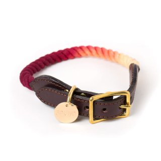 <img class='new_mark_img1' src='//img.shop-pro.jp/img/new/icons34.gif' style='border:none;display:inline;margin:0px;padding:0px;width:auto;' />Sunset Ombre Rope Cat & Dog Collar (サンセット・オンブレ・ロープ・キャット & ドッグ・カラー)