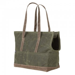 <img class='new_mark_img1' src='//img.shop-pro.jp/img/new/icons14.gif' style='border:none;display:inline;margin:0px;padding:0px;width:auto;' />Waxed Canvas Pet Tote Olive & Oak (ワックスド・キャンバス・ペット・トート ,オリーブ&オーク)