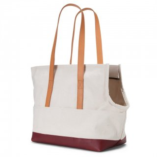 <img class='new_mark_img1' src='https://img.shop-pro.jp/img/new/icons14.gif' style='border:none;display:inline;margin:0px;padding:0px;width:auto;' />Canvas and Leather Pet Tote Natural & Crimson (キャンバス・アンド・レザー・ペット・トート ,ナチュラル&クリムゾン)