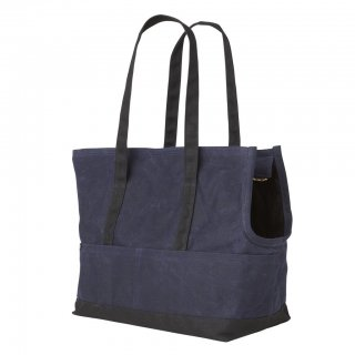<img class='new_mark_img1' src='//img.shop-pro.jp/img/new/icons14.gif' style='border:none;display:inline;margin:0px;padding:0px;width:auto;' />Waxed Canvas Pet Tote Navy & Black(ワックスド・キャンバス・ペット・トート ,ネイビー&ブラック)