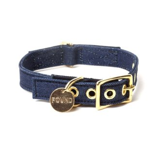 <img class='new_mark_img1' src='//img.shop-pro.jp/img/new/icons34.gif' style='border:none;display:inline;margin:0px;padding:0px;width:auto;' />Dark Denim Canvas Cat & Dog Collar(ダーク・デニム・キャンバス・キャット & ドッグ・カラー)