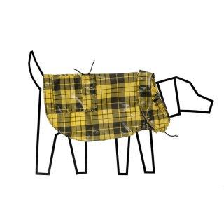 Plaid Anorak Raincoat, Yellow/Black (プラッド・アノラック・レインコート, イエロー/ブラック)