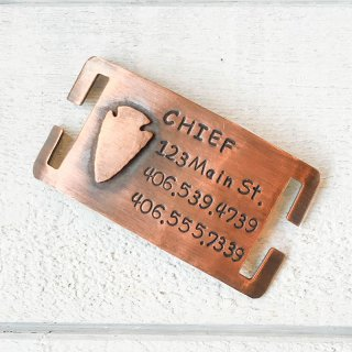 Chief Pet Collar Tag (チーフ・ペットカラータグ)