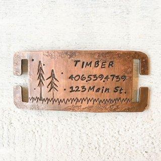 Timber Pet Collar Tag (ティンバー・ペットカラータグ)