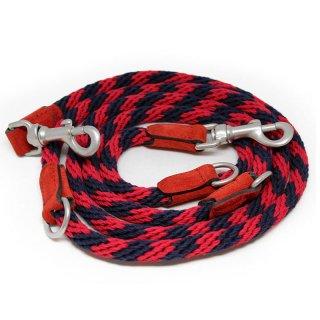 Corde Leash, Stripes Red, Ajustable (コルド・リーシュ, ストライプレッド, アジャスタブル)