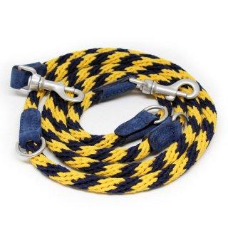 Corde Leash, Stripes Yellow, Ajustable (コルド・リーシュ, ストライプイエロー, アジャスタブル)