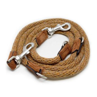 Corde Wool Leash, Cognac, Ajustable (コルド・ウール・リーシュ, コニャック, アジャスタブル)