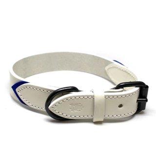 Tennis Colors Collar, White & Blue (テニス・カラーズ・カラー, ホワイト & ブルー)