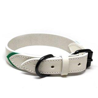 Tennis Colors Collar, White & Green (テニス・カラーズ・カラー, ホワイト & グリーン)