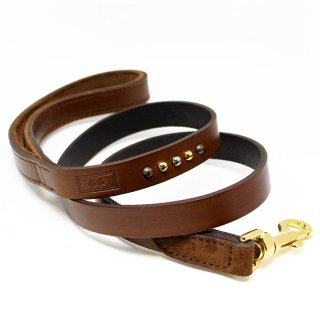 Tennis Vintage Padded Leash, Chocolate, Standard (テニス・ヴィンテージ・パッデッド・リーシュ, チョコレート, スタンダード)