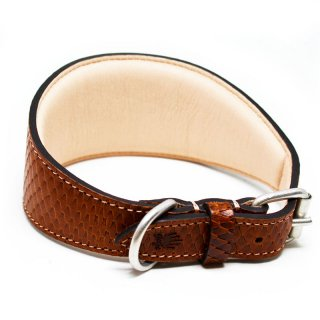 Viper Greyhound Collar, Cognac (ヴァイパー・グレイハウンド・カラー, コニャック)