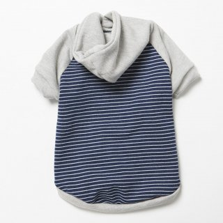 <img class='new_mark_img1' src='//img.shop-pro.jp/img/new/icons14.gif' style='border:none;display:inline;margin:0px;padding:0px;width:auto;' />Cotton Denim Knit Stripe Hoodie (コットン・デニム・ニット・ストライプ・フーディー)