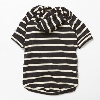 Bamboo Knit Hoodie Almond Stripe (バンブー・ニット・フーディーアーモンドストライプ)