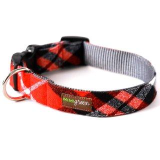Flannel PJ's Designer Dog Collar/RED (フランネル・デザイナー・ドッグ・カラー/レッド)