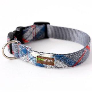 Flannel PJ's Designer Dog Collar/BLUE (フランネル・デザイナー・ドッグ・カラー/ブルー)