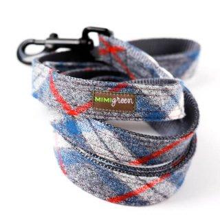 Flannel Pjs Designer Dog Leash/BLUE (フランネル・デザイナー・リーシュ・カラー/ブルー)