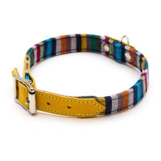 Kikoy Botanical Stripe Dog Collar  (キコイ・ボタニカル・ストライプ・ドッグ・カラー)