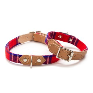 Shuka Red Dog Collar  (シュカ・レッド・ドッグ・カラー)