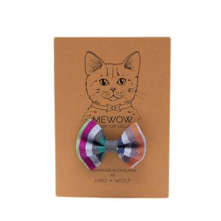 <img class='new_mark_img1' src='//img.shop-pro.jp/img/new/icons14.gif' style='border:none;display:inline;margin:0px;padding:0px;width:auto;' />Kikoy Botanical Stripe Cat BowTie  (キコイ・ボタニカル・ストライプ・キャット・ボウタイ)