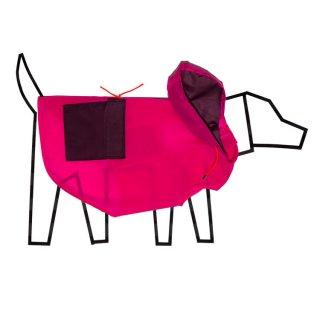 Colorblock Anorak Raincoat, Pink/Burgandy (カラーブロック・アノラック・レインコート, ピンク/バーガンディ)