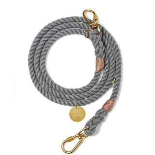<img class='new_mark_img1' src='//img.shop-pro.jp/img/new/icons14.gif' style='border:none;display:inline;margin:0px;padding:0px;width:auto;' />Grey Recycled Rope Leash, Ajustable(グレー・リサイクル・ロープ・リーシュ, アジャスタブル)