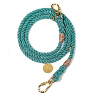 <img class='new_mark_img1' src='//img.shop-pro.jp/img/new/icons14.gif' style='border:none;display:inline;margin:0px;padding:0px;width:auto;' />Teal Recycled Rope Leash, Ajustable(ティール・リサイクル・ロープ・リーシュ, アジャスタブル)