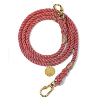 Red Up-cycled Rope Leash, Ajustable(レッド・アップサイクル・ロープ・リーシュ, アジャスタブル)