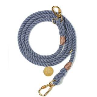 <img class='new_mark_img1' src='//img.shop-pro.jp/img/new/icons56.gif' style='border:none;display:inline;margin:0px;padding:0px;width:auto;' />Blue Jean Up-cycled Rope Leash, Ajustable(ブルー・ジーン・アップサイクル・ロープ・リーシュ, アジャスタブル)