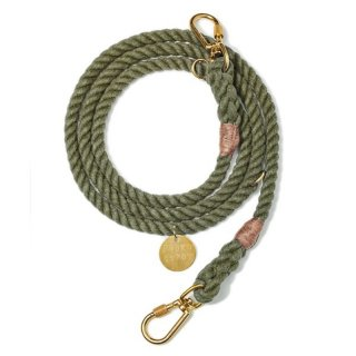 <img class='new_mark_img1' src='//img.shop-pro.jp/img/new/icons14.gif' style='border:none;display:inline;margin:0px;padding:0px;width:auto;' />Olive Recycled Rope Leash, Ajustable(オリーブ・リサイクル・ロープ・リーシュ, アジャスタブル)