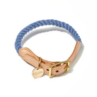 Blue Jean Up-cycled Rope Cat & Dog Collar(ブルー・ジーン・アップサイクル・ロープ・キャット & ドッグ・カラー)