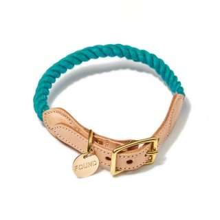 <img class='new_mark_img1' src='//img.shop-pro.jp/img/new/icons57.gif' style='border:none;display:inline;margin:0px;padding:0px;width:auto;' />Teal Up-cycled Rope Cat & Dog Collar(ティール・アップサイクル・ロープ・キャット & ドッグ・カラー)
