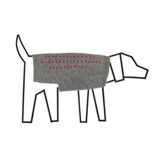Embroidered Stripe sweater, Grey/Red (エンブロイダード・ストライプ・セーター, グレー/レッド)