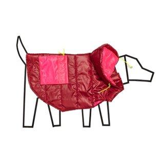 Colorblock Nylon Puffer Jacket Burgandy/Pink (カラーブロック・ナイロン・パファ・ジャケット, バーガンディ/ピンク)