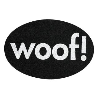 <img class='new_mark_img1' src='https://img.shop-pro.jp/img/new/icons57.gif' style='border:none;display:inline;margin:0px;padding:0px;width:auto;' />Small Size Oval Woof Recycled Rubber Placemat, Black (スモールサイズ・オーバル・ラバー・プレイスマット, ブラック)
