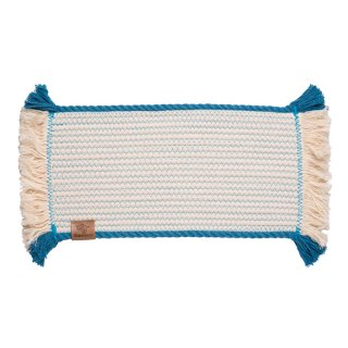 <img class='new_mark_img1' src='//img.shop-pro.jp/img/new/icons14.gif' style='border:none;display:inline;margin:0px;padding:0px;width:auto;' />Cotton Rope Placemat with Blue Trim (コットン・ロープ・プレイスマット, ブルー)