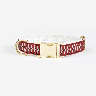<img class='new_mark_img1' src='https://img.shop-pro.jp/img/new/icons53.gif' style='border:none;display:inline;margin:0px;padding:0px;width:auto;' />Chef L'Bark Collar,Fire red x Cream x Black  (シェフ・バーク・カラー, レッド & クリーム & ブラック)