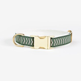 <img class='new_mark_img1' src='https://img.shop-pro.jp/img/new/icons53.gif' style='border:none;display:inline;margin:0px;padding:0px;width:auto;' />Chef L'Bark Collar,Sage x Black x Cream   (シェフ・バーク・カラー, セージ & ブラック & クリーム)