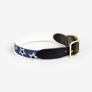<img class='new_mark_img1' src='https://img.shop-pro.jp/img/new/icons53.gif' style='border:none;display:inline;margin:0px;padding:0px;width:auto;' />Starstruck Leather Collar,Woad x Cream x Black (スターストラック・レザーカラー, ウォード & クリーム & ブラック)
