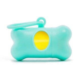 Modern Kanine PoopBags Dispenser / Turquise & Yellow (プープバッグ・ディスペンサー/ターコイズ・イエロー) /3 ロール(60枚入)