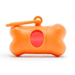 Modern Kanine PoopBags Dispenser / Orange & Coral (プープバッグ・ディスペンサー/オレンジ・コーラル) /3 ロール(60枚入)
